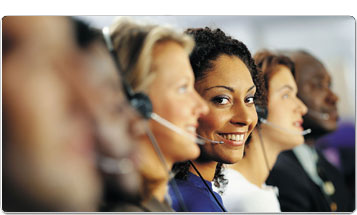 women with telephone headsets photo